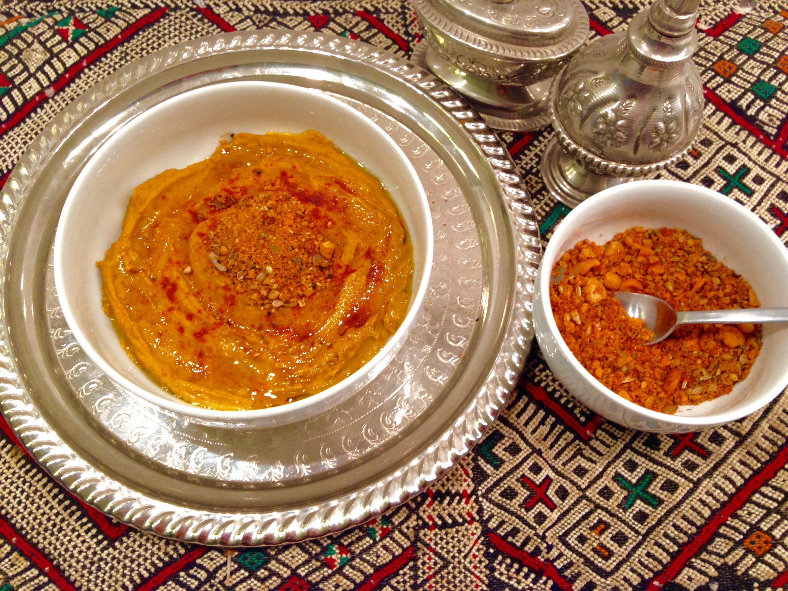 hoummous lentilles et dukkah