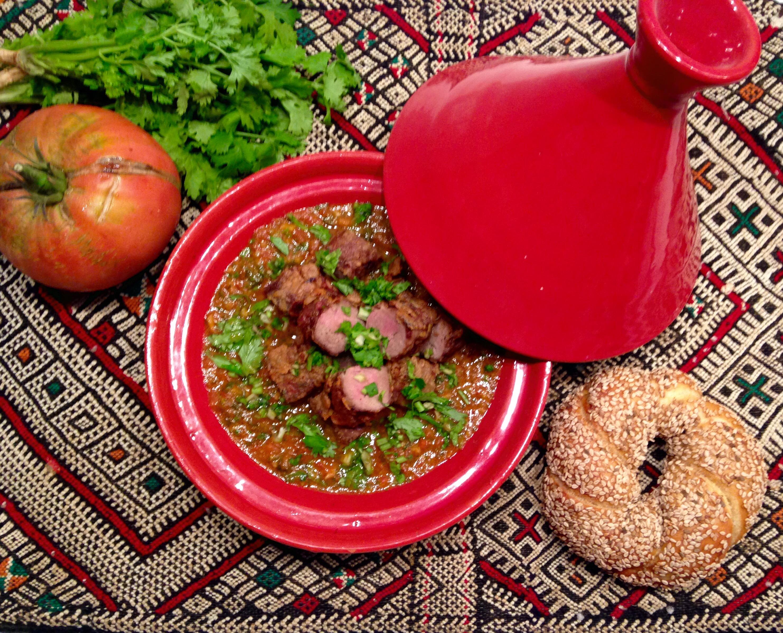 Foie de veau à la chermoula en  sauce tomate (kebda m'chermla)