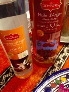 huile d'argan et eau de fleur d'oranger