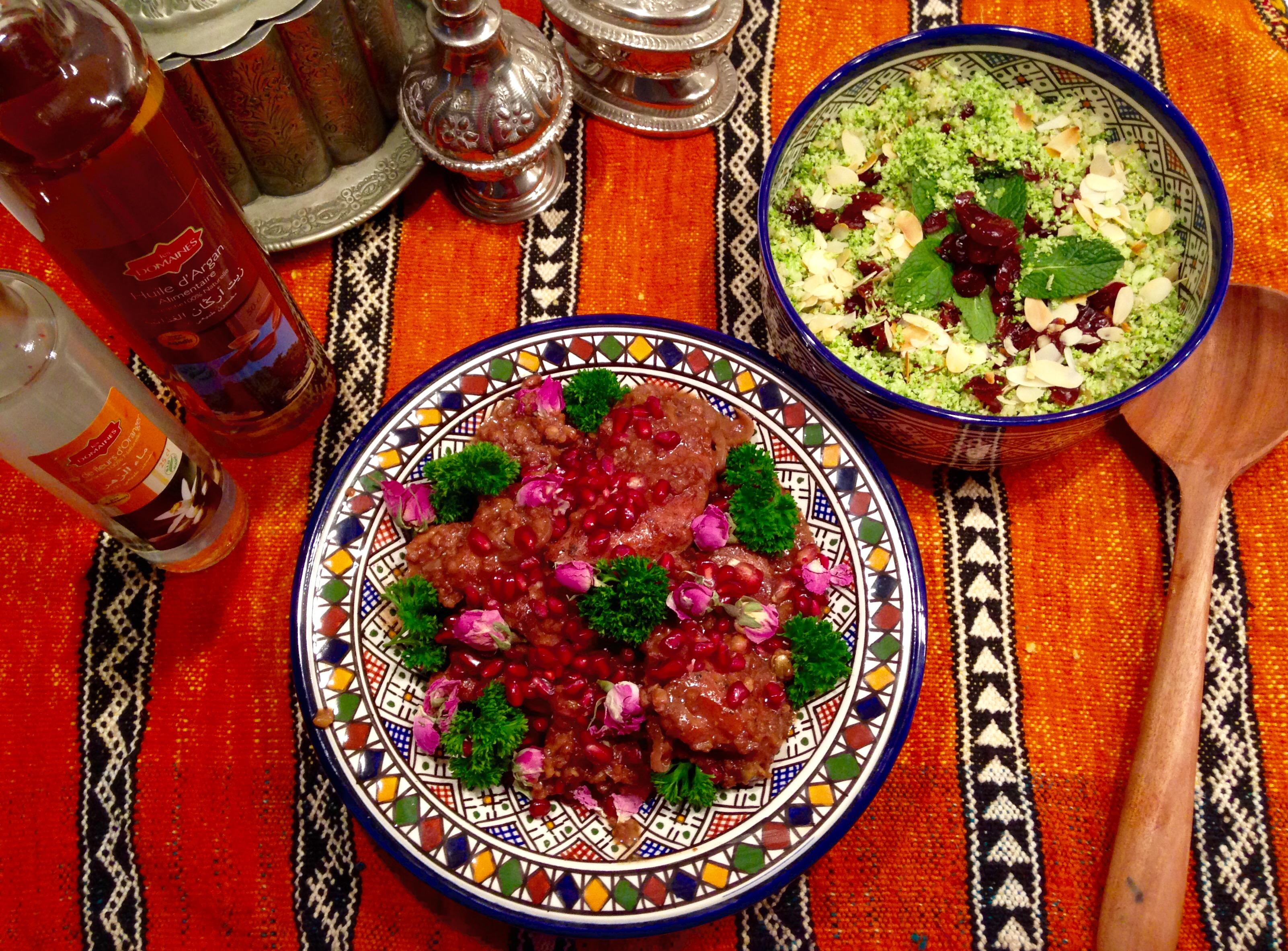 Poulet grenade et boulgour brocoli