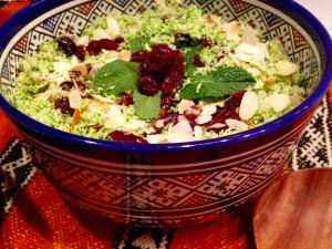 Boulgour au brocoli et à l'argan