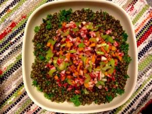 Salade de lentilles d'hiver