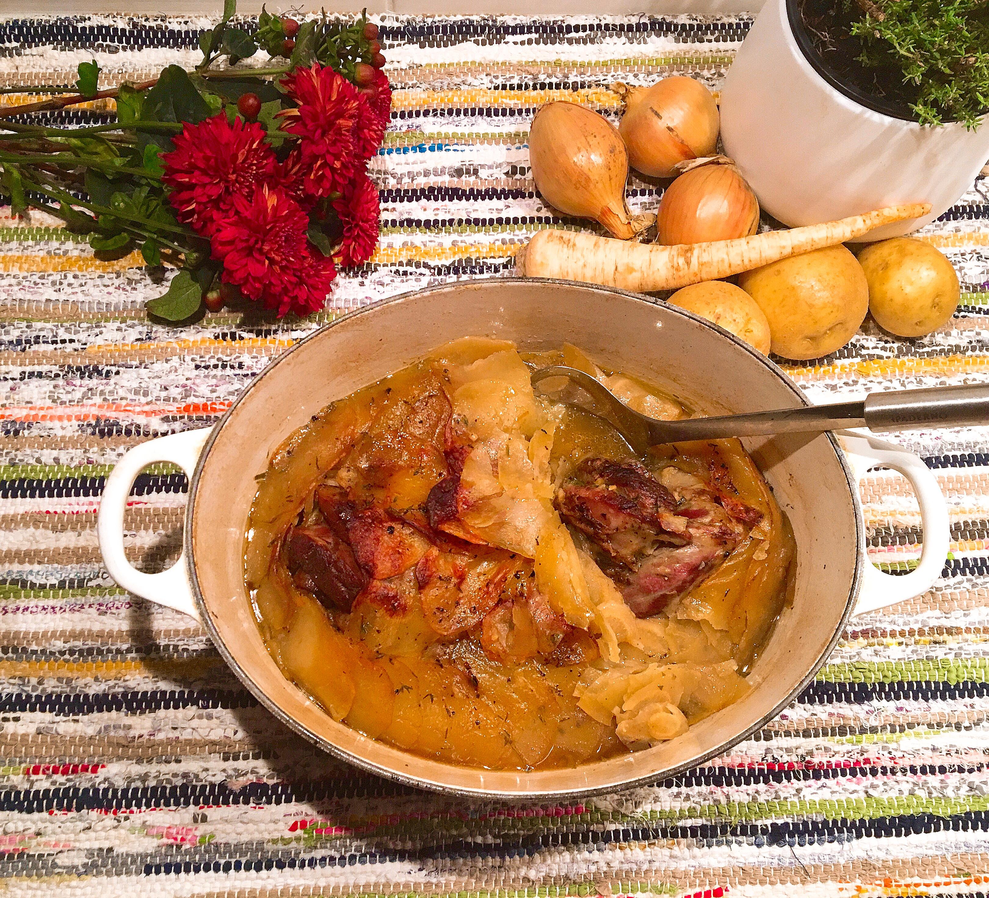 Lancashire hotpot au persil tubéreux (et à la patate aussi)