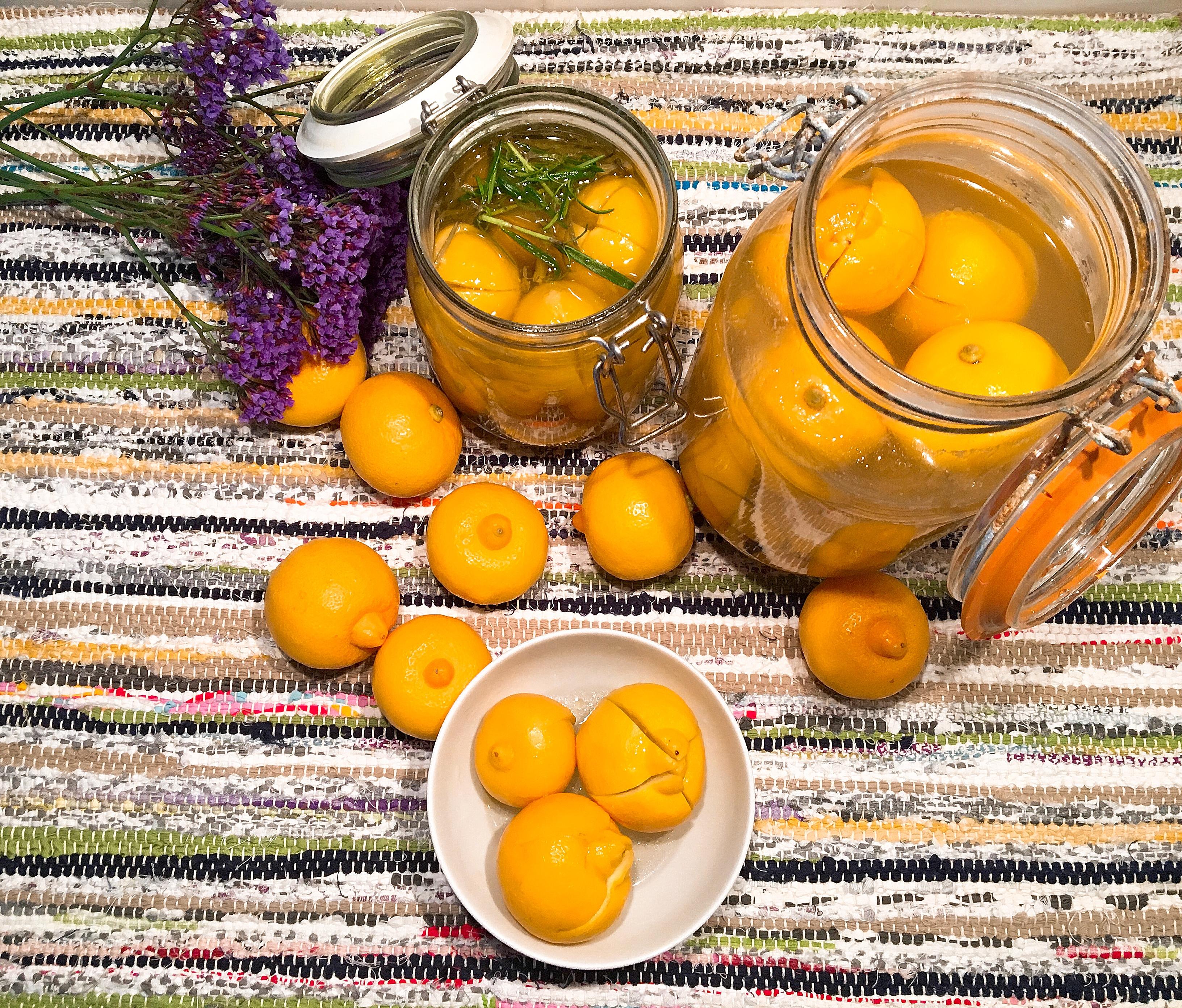 Citrons confits à la marocaine