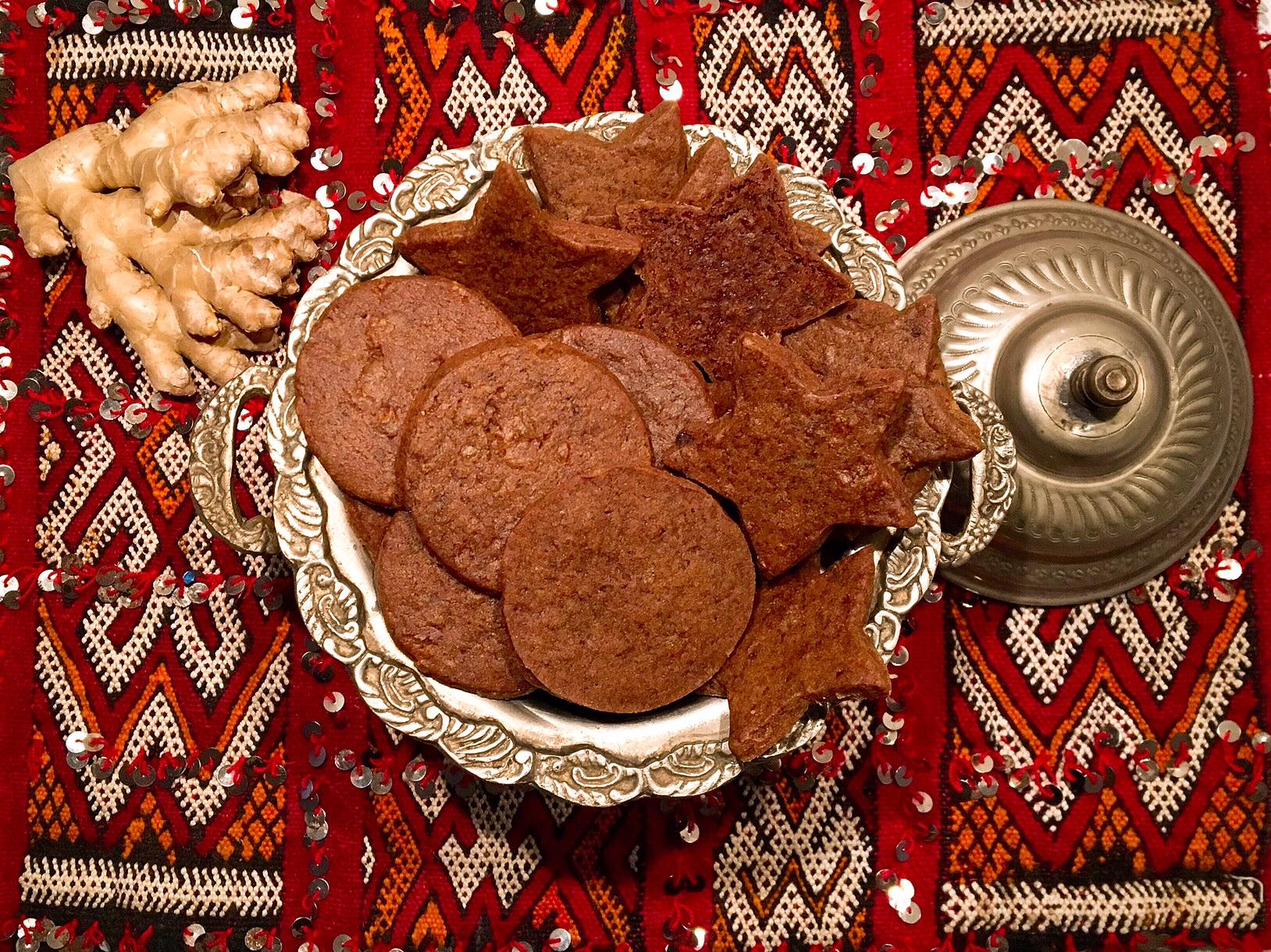 Biscuits aux deux gingembres
