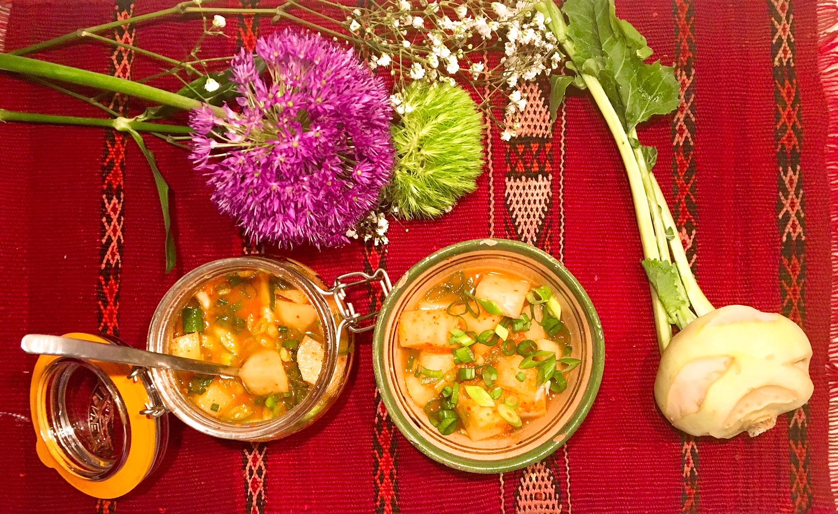 Kimchi de chou-rave
