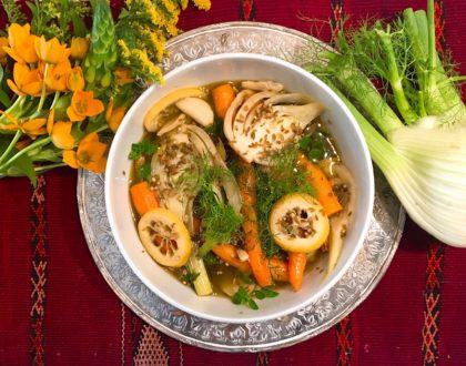 Fenouil et carottes à la grecque