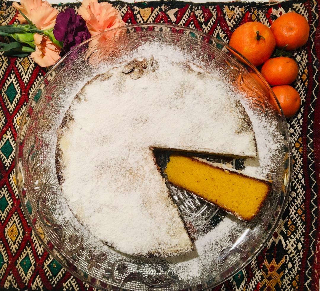 Moelleux à la clémentine , à la bergamote et aux amandes