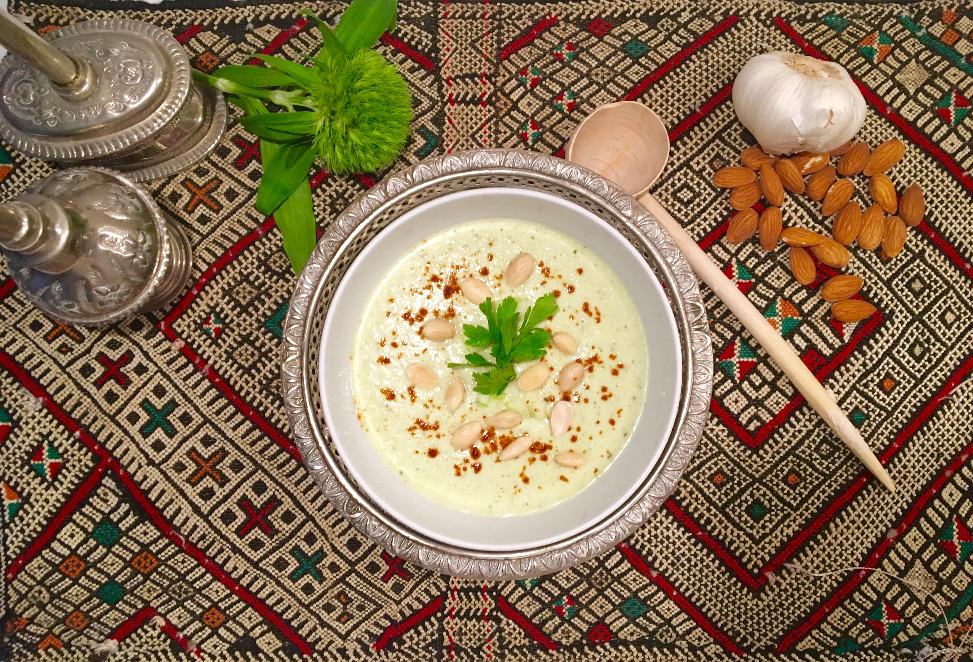 ajo blanco au concombre