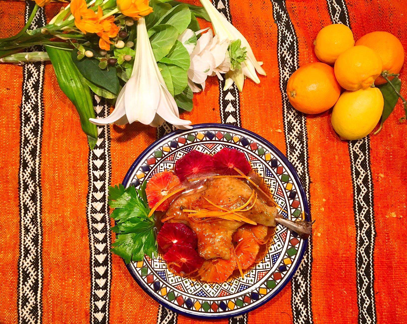 Canard aux oranges sanguines