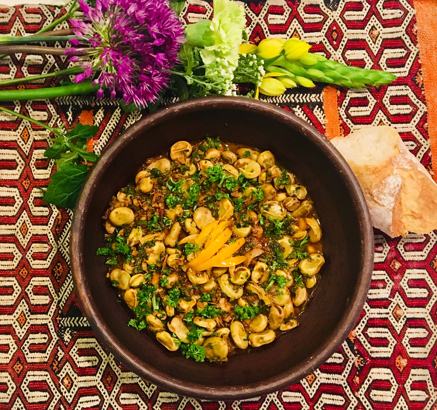 Salade de fèves cuites à la marocaine