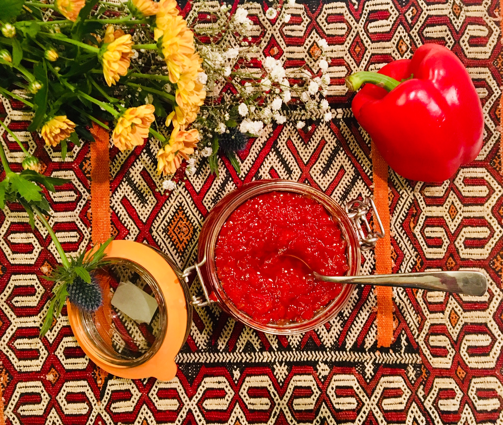 Confiture de poivrons aux piments