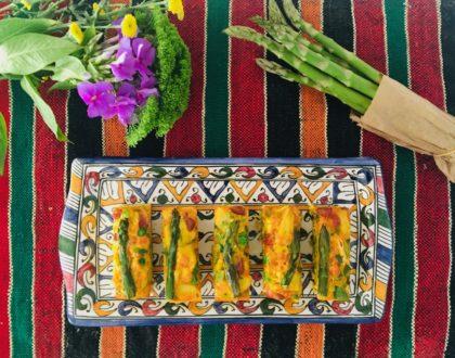Petites tortillas aux asperges et au chorizo