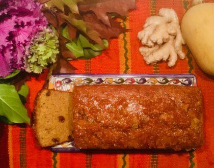 Cake à la courge butternut et au gingembre